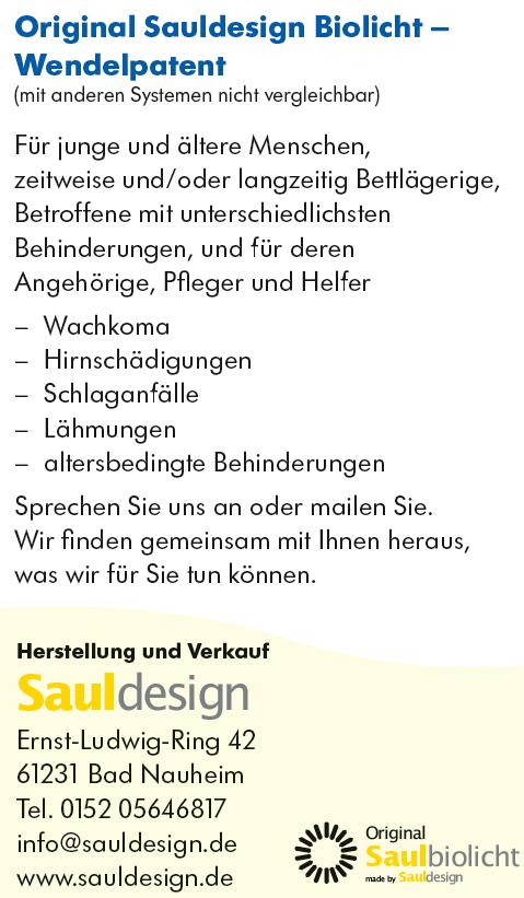 Original Sauldesign - Biolicht - Wendelpatent